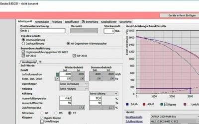 """Airflow-Auslegungssoftware für Lüftungsgeräte ist """"ready for BIM"""""""
