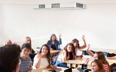 Bedarfsgerechte Lüftung in Büros, Konferenz- und Klassenräumen