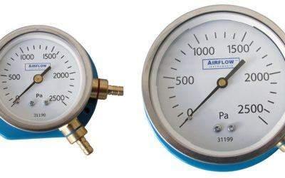 Zeigermanometer mit Messbereich bis 2.500 Pa